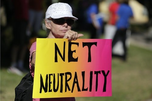 Erlendsson attends a pro-net neutrality Internet activist rally in the neighborhood where U.S. President Barack Obama attended a fundraiser in Los Angeles