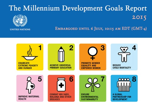 Photo Credit: The Millennium Development Goals Report 2015 Press Kit