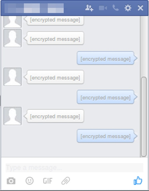facebook chat encrypted
