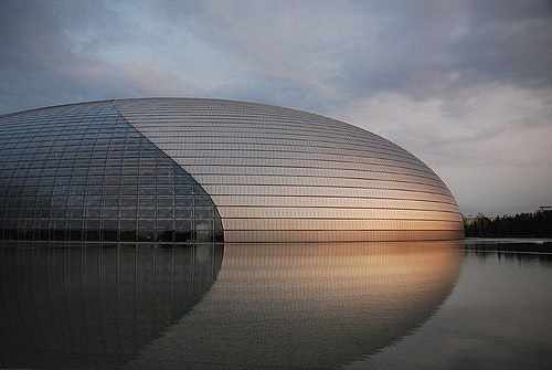 The National Centre for the Performing Arts in Beijing, finished in 2007. Photo Credit: Vera & Jean-Christophe @Flickr CC BY-SA 2.0