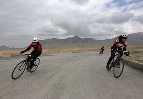 Afghanistan's Women's National Cycling Team|Photo Credit: Reuters/達志影像