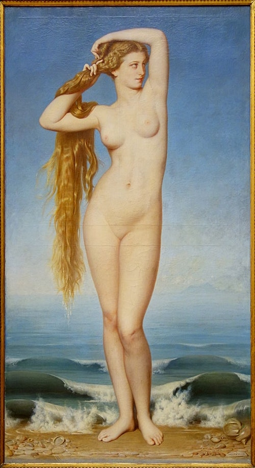 Amaury-Duval, The Birth of Venus, 1862. Oil on canvas.
