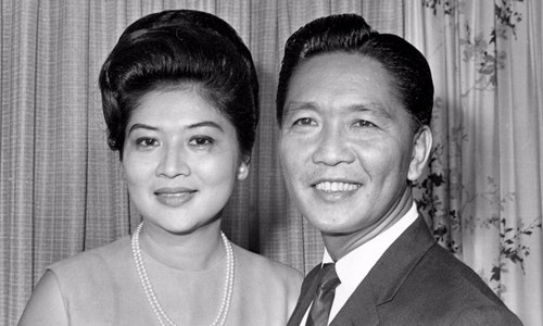 PRESIDENT-ELECT MARCOS AND WIFE