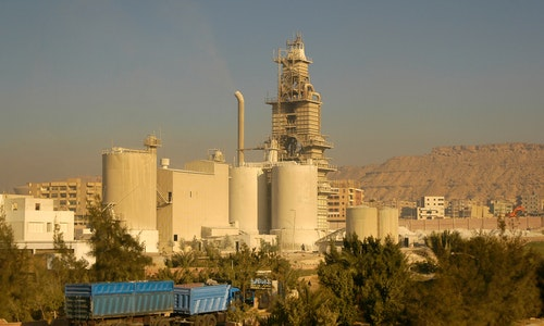 Cairo, Egypt - November 11, 2006: Cement factory and industrial area  S